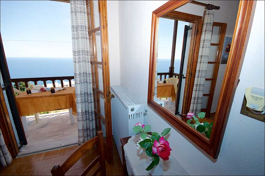 family apartment pelion agios ioannis kitchen beach sea view